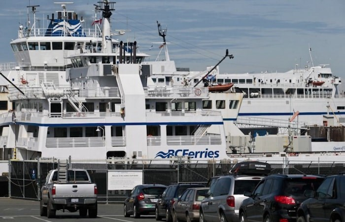 At Swartz Bay ferry terminal, heavy traffic is expected on Thanksgiving weekend, often the busiest time of the year for foot passengers. (Photograph By DARREN STONE, TIMES COLONIST)