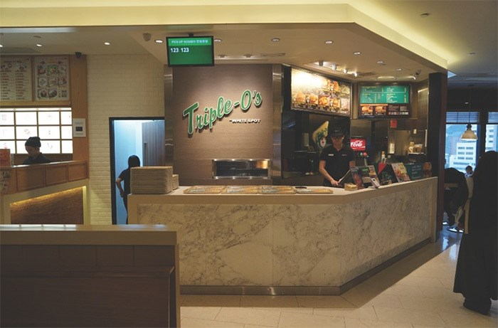 A Hong Kong Triple O's; of the company's 67 locations, eight are now outside of Canada?|?White Spot/Triple O's