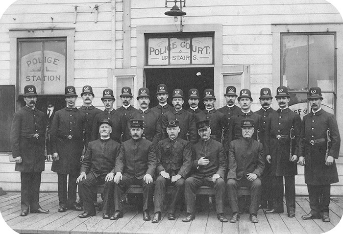 Vancouver Police Department, 1903. City of Vancouver Archives. Ref: AM54-S4-Pol-P4.
