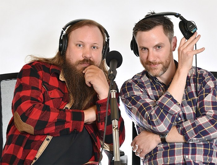 Graham Clark, left, and Dave Shumka are poised to release the 500th episode of the award-winning Stop Podcasting Yourself. Dan Toulgoet photo
