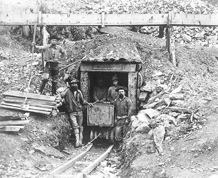 Gold Miners in Barkerville, 1868. Photo: City of Vancouver Archives (P904).