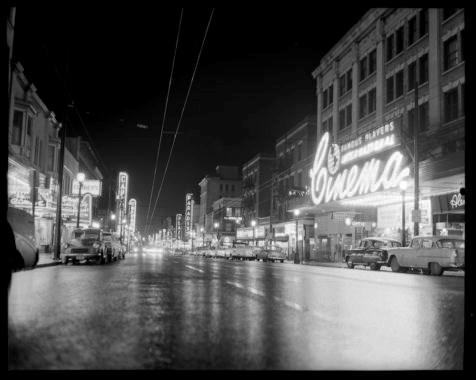 Granville-Street-at-Night. William Roozeboom.1958