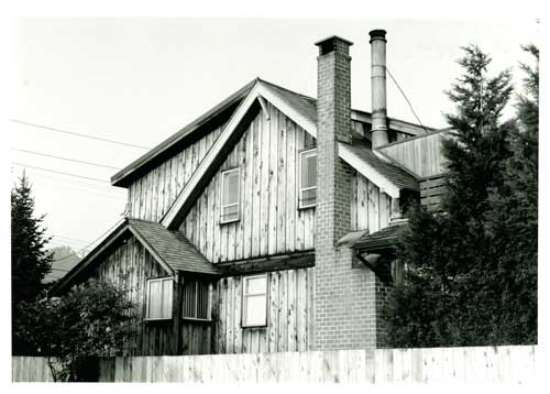 Navvy Jack house, built circa 1873 and located on Argyle Avenue in West Vancouver. West Vancouver Archives.