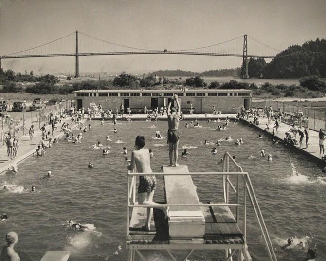 Ambleside Pool, 1954. West Vancouver Archives.