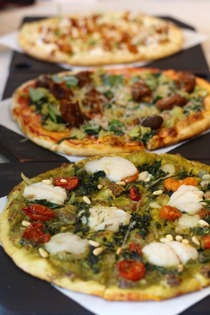 Pizzas at Virtuous Pie in Vancouver (Lindsay William-Ross/Vancouver Is Awesome)
