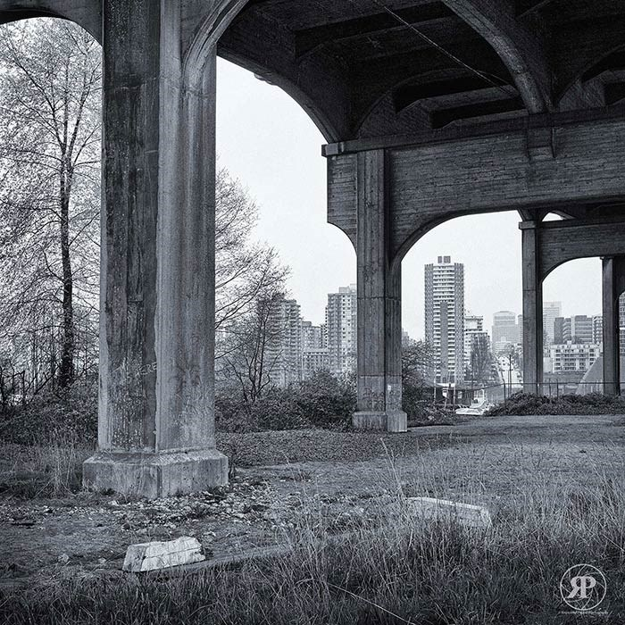Under Burrard Bridge, Vancouver, 1985