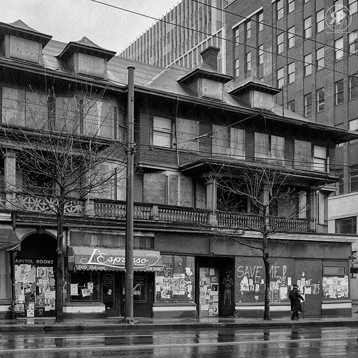 Condemned Orillia Building, Robson & Seymour, 1985