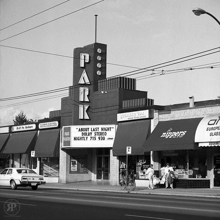 Park Theatre, Cambie Street, Vancouver, 1986
