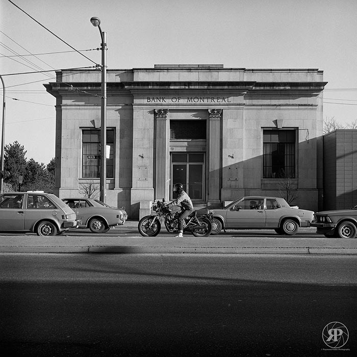 Bank of Montreal Building, Main and Prior, Vancouver, 1984