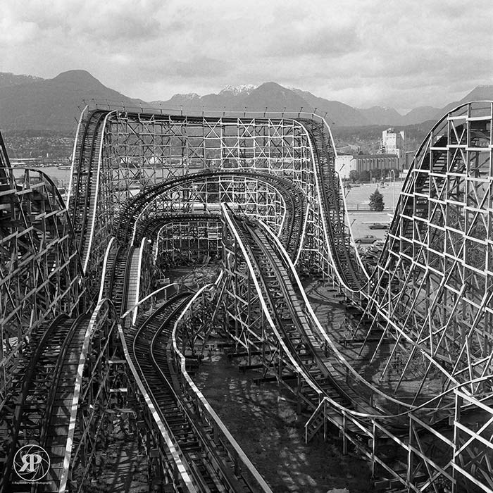 Wooden Roller Coaster, Vancouver, 1986