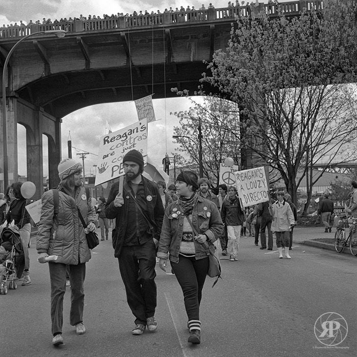 Peace Under Burrard Bridge, Vancouver, 1985