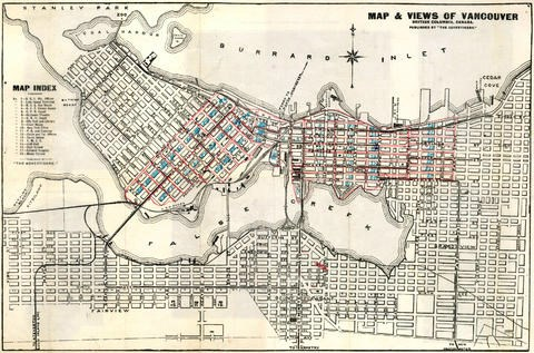1909 Map of Vancouver by Pambrun, Williams and Co. (Vancouver, B.C.)