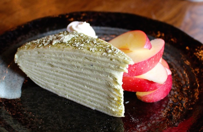 Photo: Green tea mille crepe (Lindsay William-Ross/Vancouver Is Awesome)