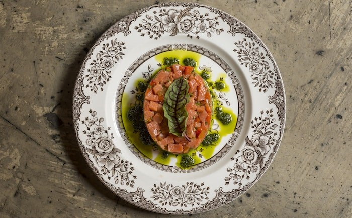 Smoked Salmon Tartare from Pourhouse (Photo by Brad Hill from The Gastown Foodie)