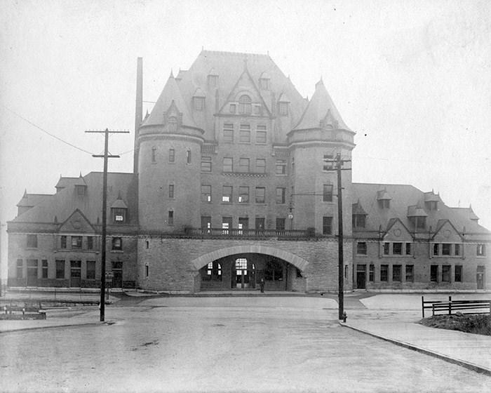 C.P.R. Station Vancouver on Granville St, 1900. Photo: Vancouver Archives Item:
