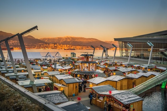 The annual Vancouver Christmas Market is bigger and better than ever at Jack Poole Plaza.