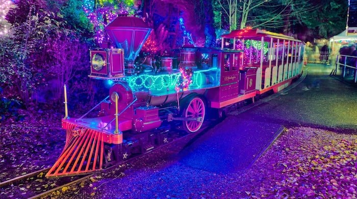 The annual Bright Nights in Stanley Park event is on now through Jan. 6 with the holiday train.