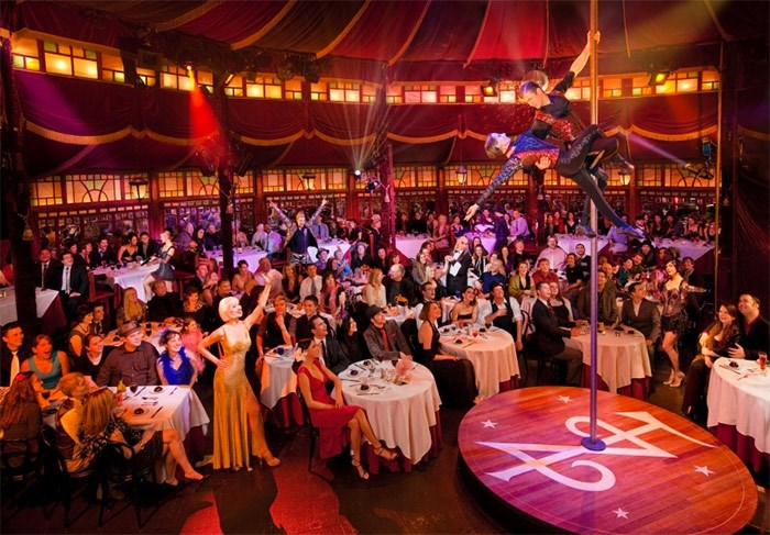 Gourmet cirque cabaret Teatro ZinZanni has been running in Seattle since 1998. Vancouver park board this week approved bringing a similar show to Queen Elizabeth Park for a five-month run starting in November 2018. Photo Michael Craft