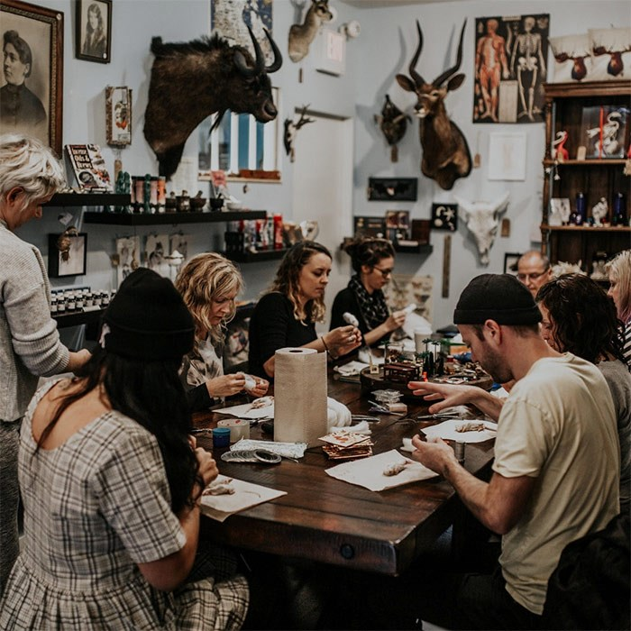 A taxidermy workshop for beginners at This Monkey's Gone to Heave makes for a great holiday gift.
