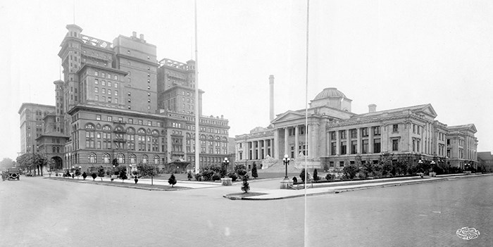 Hotel Vancouver and City Hall. Photo: Vancouver Archives Item: CVA 371-884.