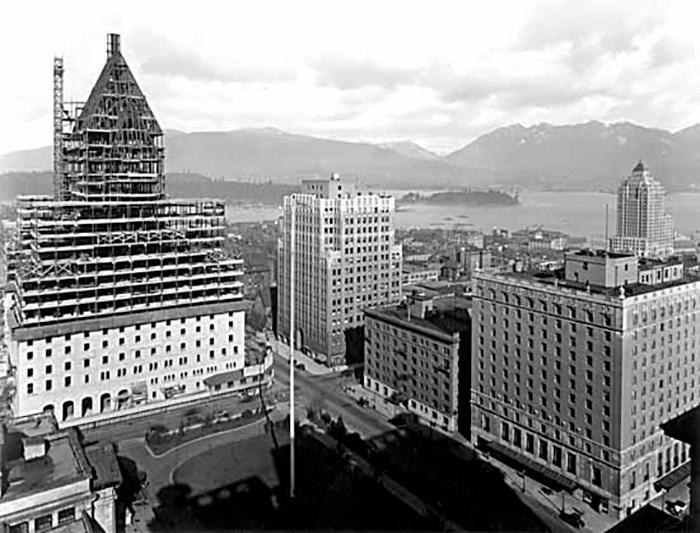 Hotel Vancouver II and III. Photo: Leonard Frank.VPL Number: 8909.