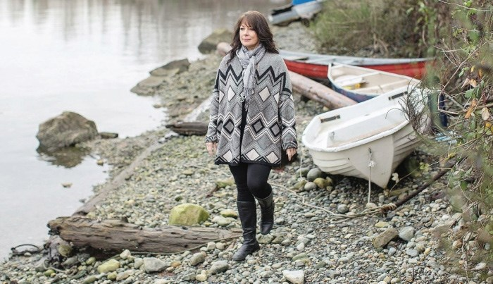 Ladysmith artist Mya DeRyan, 52, was saved after she jumped off a B.C. Ferries vessel on Oct. 30.   Photograph By ADRIAN LAM, Times Colonist