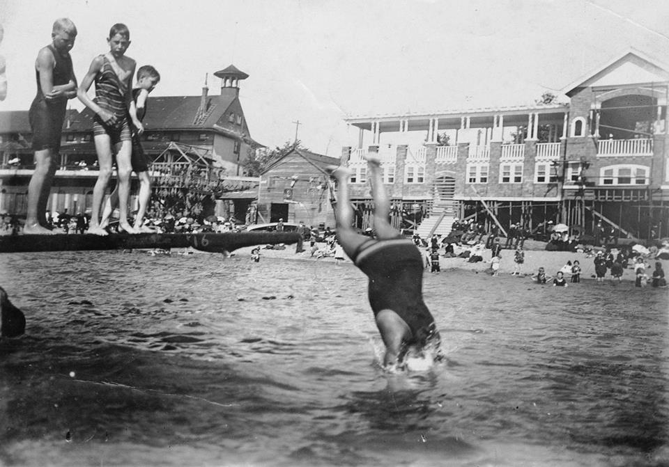 Joe Fortes diving into English Bay, 1906