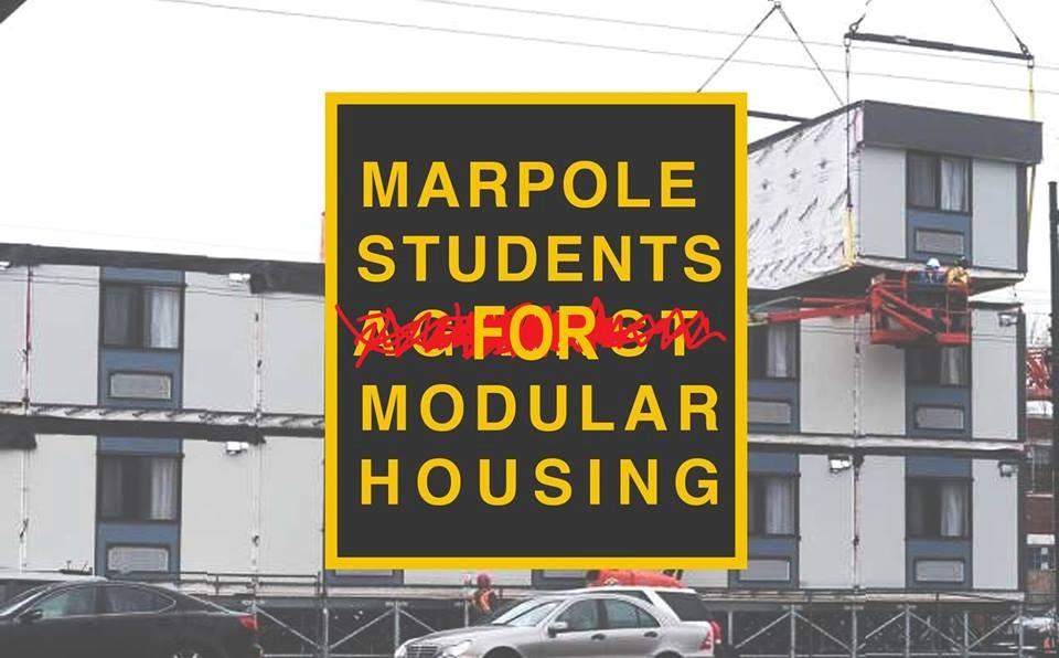 Photo: Marpole Students for Modular Housing