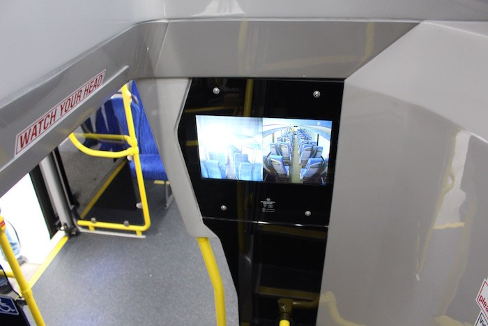 When you board, this monitor shows what the seating is like upstairs (Lindsay William-Ross/Vancouver Is Awesome)