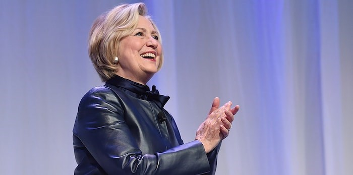 Hillary Rodham Clinton spoke at the Vancouver Convention Centre Wednesday December 13, 2017. Tickets ranged in price from $75 to $1,500 which included a copy of her latest book. 5200 people attended, it was a sold out event. Photo by Dan Toulgoet