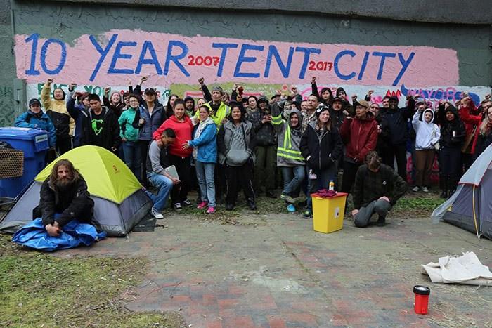 Previous tent city at 950 Main street. Photo: AAD