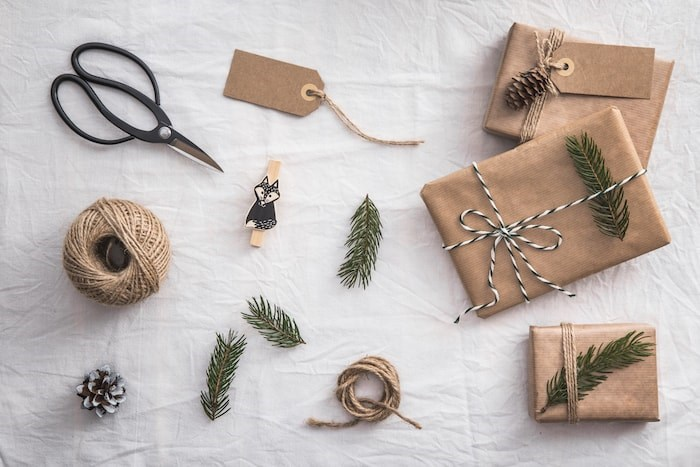 Recycled Christmas wrapping/Shutterstock