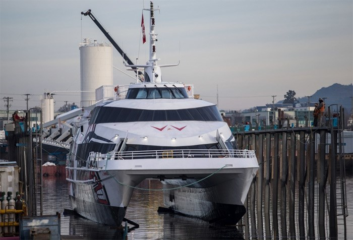The V2V Empress left the Point Hope Shipyard on Dec. 13.   Photograph By DARREN STONE, Times Colonist