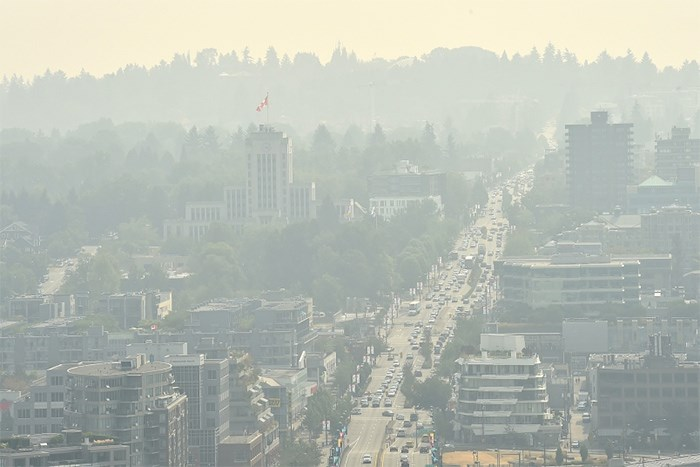 Metro Vancouver has issued an Air Quality Advisory Bulletin due to intermittent high concentrations of fine particulate matter that may occur over the weekend. Photo: Dan Toulgoet