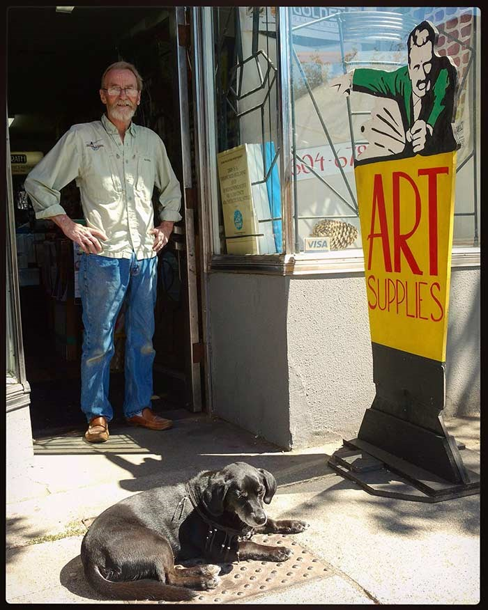Stan, the proprietor of RATH Art Supply. Photo: Jennifer Chernecki