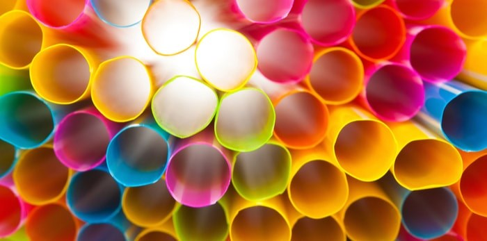 A recent survey shows that support remains at or above about 75% among Vancouver residents in favour of the city's planned ban on single-use plastics like styrofoam takeout containers, straws, and utensils. Photo: Plastic straws/Shutterstock