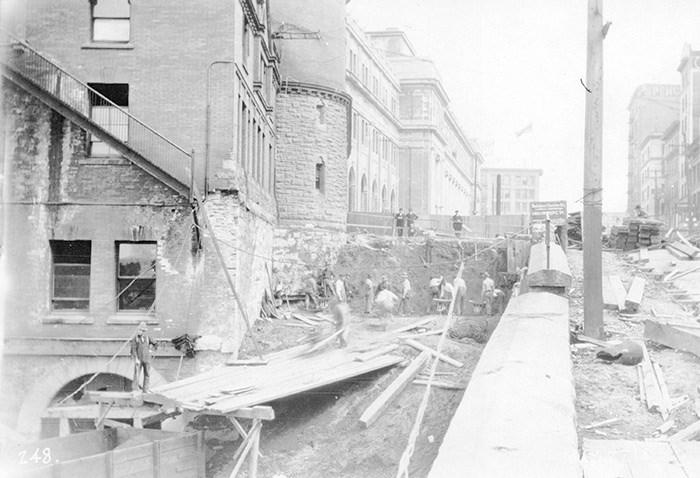 Waterfront Construction. Vancouver Archives Item: CVA 152-7.3