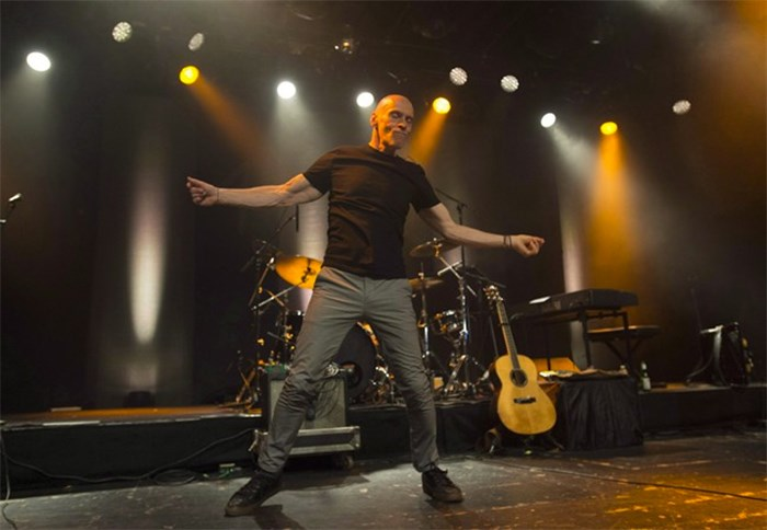 Spirit of the West frontman John Mann performs his final concert in Vancouver, Saturday, April 16, 2016.THE CANADIAN PRESS/Jonathan Hayward