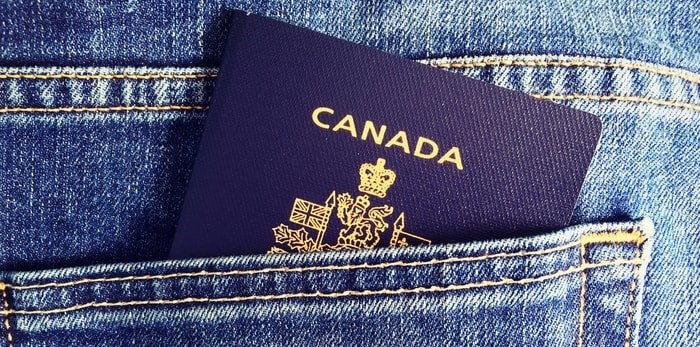 Canadian passport/Shutterstock