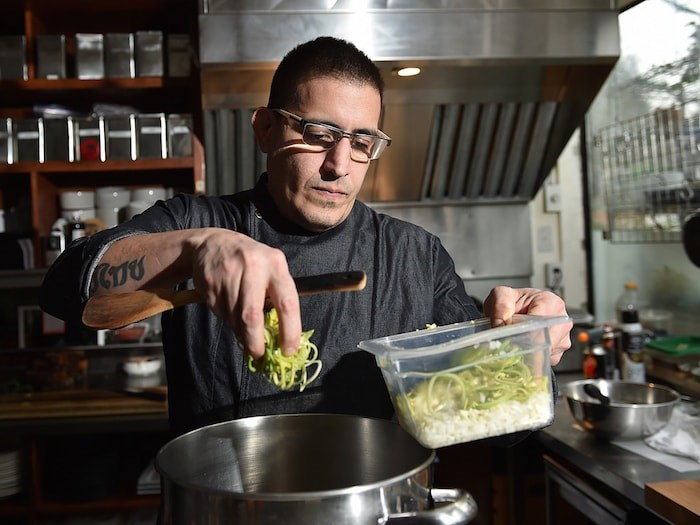 Chef Jefferson Alvarez was half of the culinary team at Cacao in Kitsilano. Photo by Dan Toulgoet/Vancouver Courier