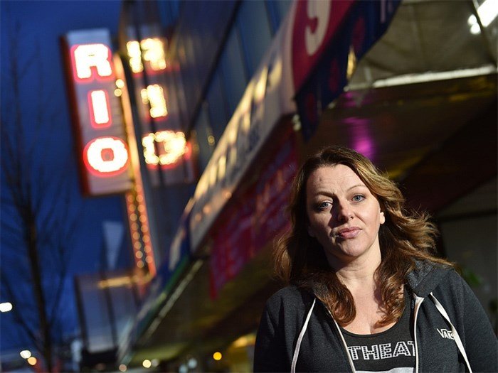 Rio Theatre operator Corrine Lea is looking to buy back the Rio Theatre and save it from potential purchase pressures. Photo Dan Toulgoet