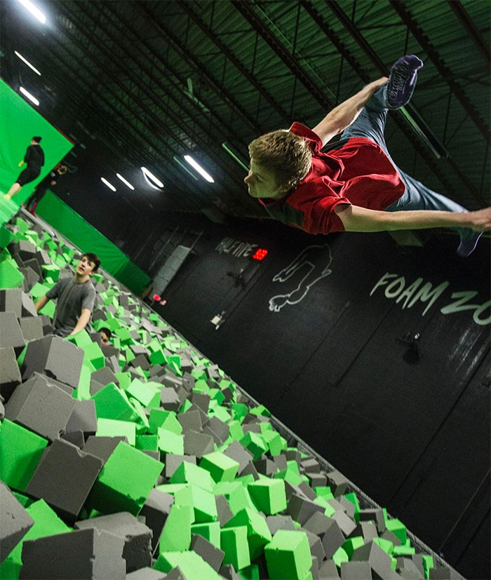 Extreme Air Park's foam pit, where Jay Greenwood died of a broken neck after jumping in. Extreme Air Park photo