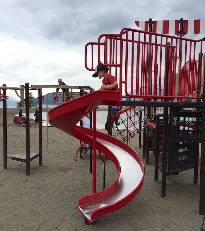 If the rain holds off, let the kids burn off some energy at the lake-side playground (Photo: V.I.A.)