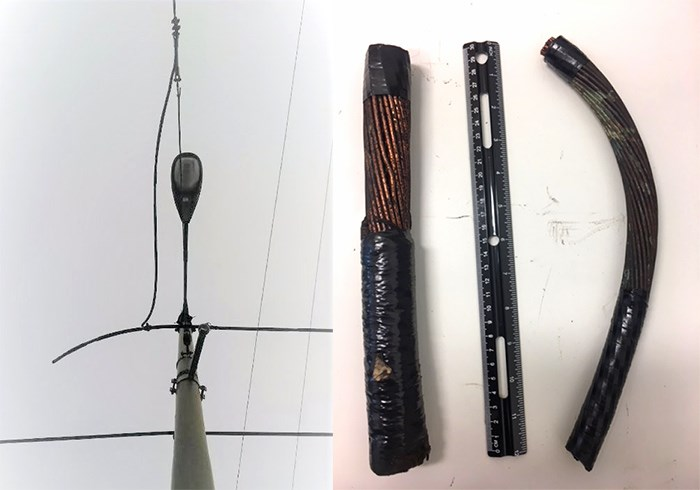 Thieves steal trolley wires for their metals value