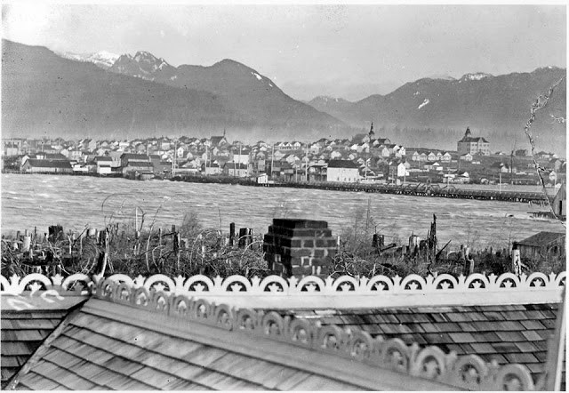 East End in the 1890s as seen from the current site of Olympic Village. City of Vancouver Archives