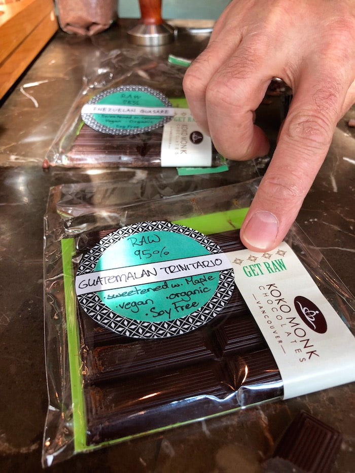 Raw dark chocolate bars (Lindsay William-Ross/Vancouver Is Awesome)