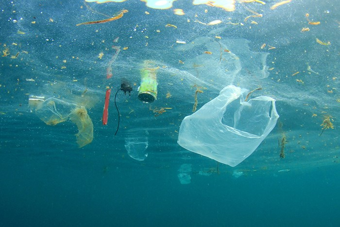 Plastic pollution in the ocean. Shutterstock