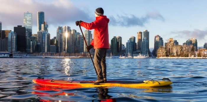 Paddleboarding in Vancouver/Shutterstock