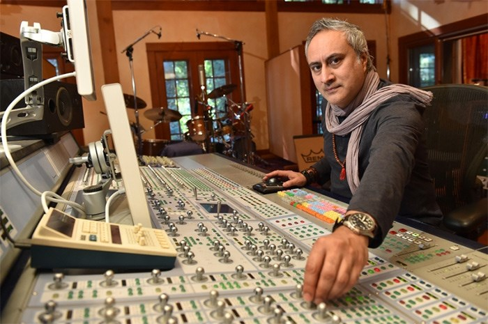 Ashwin Sood, shown here in his West Vancouver studio, will impart his 30-plus years of knowledge in the music biz as part of the Reboot Lab forum on Thursday, March 22.