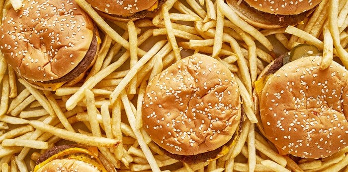 Burgers and fries/Shutterstock